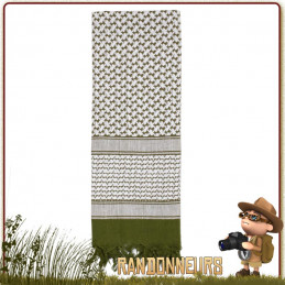 Shemagh forces speciales militaire Coton BLANC et OLIVE Rothco