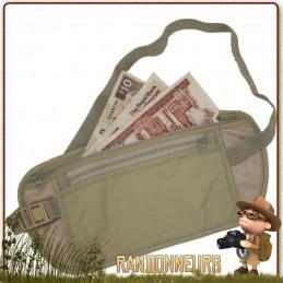 Ceinture de voyage Multi Poches Secrète Highlander transport à l'abri des regards argent, carte de crédit