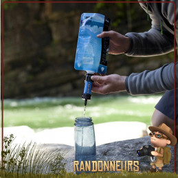 filtre paille care plus sawyers, une paille filtrante légère avec fibres creuses utilisable en randonnée et survie