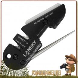 Affuteur Blademedic sharpener Lansky carbure tungstène, céramique et diamant pour couteaux survie bushcraft