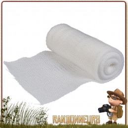 Bande de gaze en coton de taille 7.5 cm x 5 m à usage unique. Bandage pour le maintien et le soutien des membres blessés