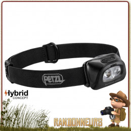 Lampe Frontale PETZL Tactikka Plus Noire Éclairage lentilles bleu, rouge, vert de vision nocturne