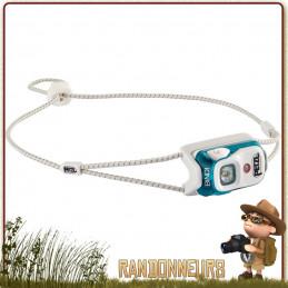Lampe Frontale marche ultra légère PETZL Bindi Emeraude rechargeable de randonnée