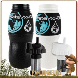 Gourde Filtre survie militaire CLEAR WATER Camo Water To Go efficace contre les virus