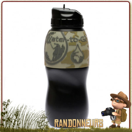 Gourde Filtre CLEAR WATER Camo Water To Go