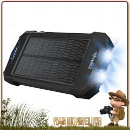 Batterie solaire Beluga Power Plus est un chargeur solaire de Sunpower batterie interne 10000 mah deux port usb 2.0