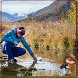gourde filtrante katadyn BeFree 1 litre est une gourde souple qui tient dans une poche pour filtrer l'eau potable en randonnée
