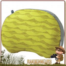Oreiller Air Head Gonflable Thermarest REGULAR avec housse douce au toucher extérieur brossé lavable en machine