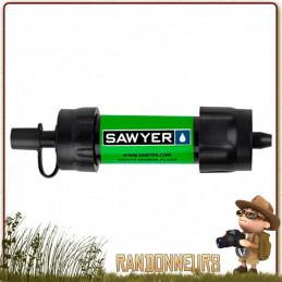 paille filtre randonnée survie sawyer, meilleur système filtration eau portable ultra léger