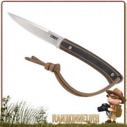 Couteau de cou CRKT BIWA manche G10 avec lacet paracord ultra léger