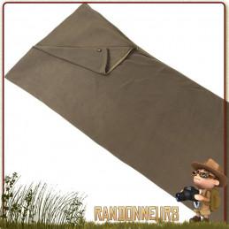 Sac de couchage et Couverture Polaire FOSCO VERT armée à utiliser seul en bivouac ou avec sac couchage militaire