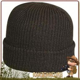 Bonnet type Commando de couleur Noir, Tissu 100% acrylique, taille unique randonnée bushcraft, le camping, la chasse
