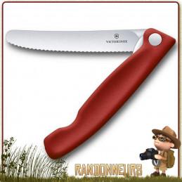 Couteau office Victorinox pliant à dents SWISSCLASSIC de randonnée légère
