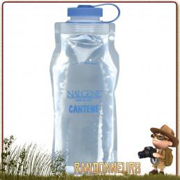 Gourde Souple Nalgene Cantene Pliable 1 Litre sans BPA, ultra légère, adaptée à la randonnée ultra light