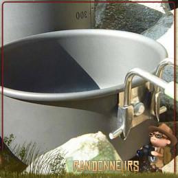 popote aluminium hard anodisé TERRA SOLO Optimus Casserole de contenance 60 cl avec poignée repliable housse rangement