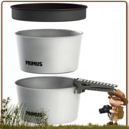 Casseroles, couvercle et prince preneuse popote Essential 2.3 litres Primus complète de camping pour 2 à 4 campeurs