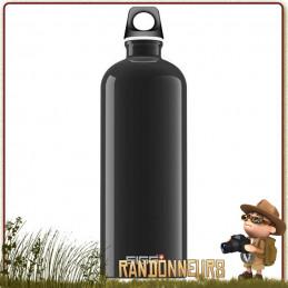 Gourde de randonnée aluminium, la bouteille alu TRAVELLER 1 Litre SIGG robuste et légère sans bisphenol A BPA