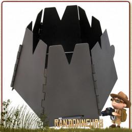 Réchaud Bushcraft à bois, Hexagon Titane Vargo, entièrement en métal titane et pliable