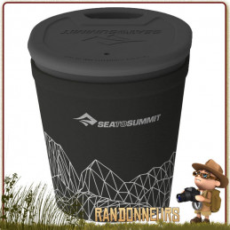 Mug DeltaLight Isotherme Ultra Léger Sea To Summit 35 cl polypropylene léger et incassable et couvercle bec verseur