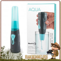 Facile à utiliser, le purificateur d'eau potable Steripen Aqua UV offre un traitement ultra violet de l'eau