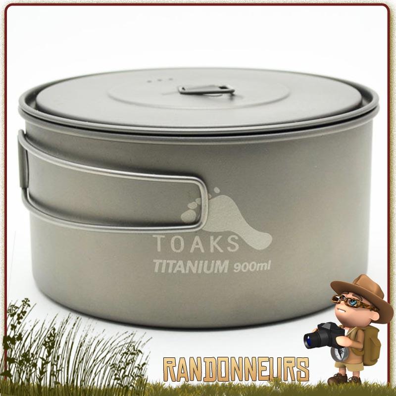 TOAKS Coupe en Titane Ultra-l/ég/ère pour Camping en Plein air et Pot en Titane