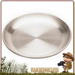 Assiette de Camping en Aluminium diamètre 20 cm pour randonner légère et  vaisselle de camping