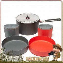Popote 2 personnes MSR, le set de vaisselle Alpinist 2 System vaisselle randonnée légère pour 2 personnes