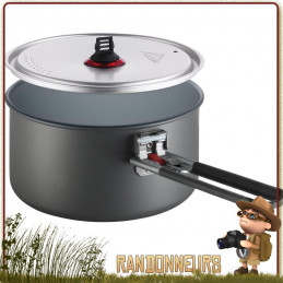 Casserole Céramique Solo Pot MSR 1.3L anti-adhésive aluminium hard anodisé revêtement intérieur céramique non toxique