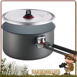 Casserole Céramique anti-adhésive Pot MSR 2.5L aluminium hard anodisé revêtement intérieur céramique non toxique