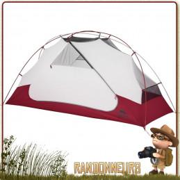TENTE ELIXIR 1 MR - Tente de randonnée légère et de camping nomade, pour une personne et utilisable sur trois saisons