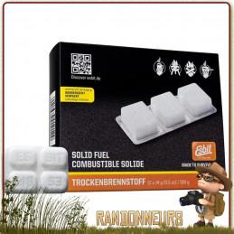 Boite de 12 tablettes de 14g Héxamine Esbit  pour réchaud essence solide ou pour allumer un feu et servir d'amadou