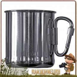 Mug 33 cl en acier inoxydable 18/8 robuste et de qualité Relags pour le camping