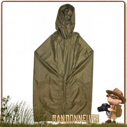 poncho bushcraft highlander pro force, poncho tarp étanche de bivouac militaire avec oeillets