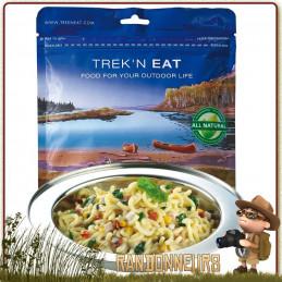 PÂTES A LA CRÈME ET ÉPINARDS AU POULET TREK'N EAT lyophilisés pour un repas trekking
