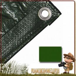 bâche plastique tarp pour bivouac bushcraft survie nature avec oeillets et coutures renforcées