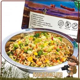 repas lyophilisé végan trek'n eat pour randonner Riz Cajun Jambalaya aux Légumes