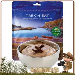 Sachet de dessert lyophilisé de randonnée Mousse au Chocolat Trek'n Eat