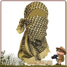 Shemagh Coton NOIR et BEIGE Highlander camouflage désert militaire