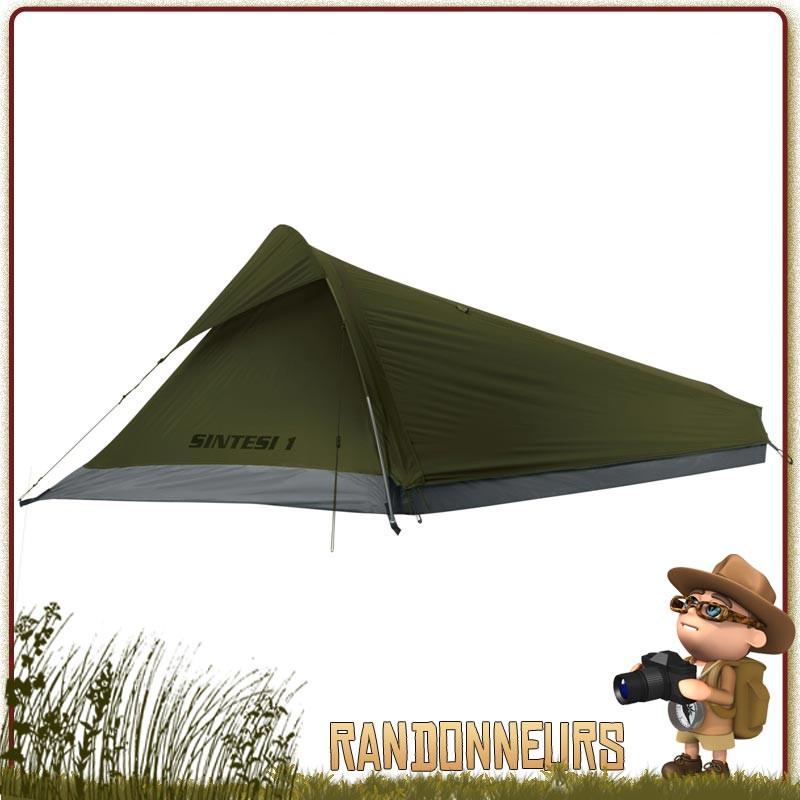 Tente Sentesi 1 place FERRINO marche ultra légère monoparoi avec entrée latérale avec moustiquaire