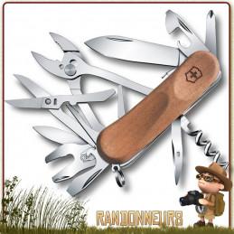 Couteau Suisse Victorinox EVOWOOD S557 avec 20 fonctions et 10 pièces multifonctions Victorinox authentique bois