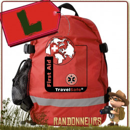 Sac à Dos Trousse de Soins Vide LARGE Travelsafe à compléter de vos accessoires de secours format sac à dos