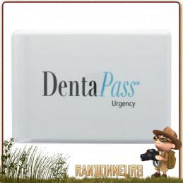 Dentapass, kit de premiers secours dentaire d'urgence premiers soins dentaires en voyage trekking