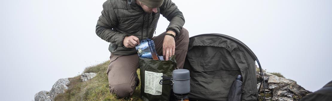 Sachet repas lyophilisé, le moyen le plus léger de se nourrir en randonnée au long cours